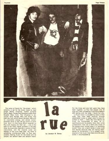 LaRue Fanzine Article